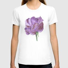 Purple Rose Watercolor T-shirt