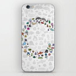 letter c - sea creatures iPhone Skin