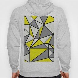 Geometric Scandinavian I - Yellow, Charcoal, black And Cream Hoody