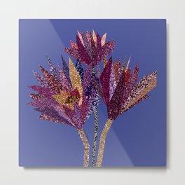 Purple flower bunch (blueviolet) Metal Print