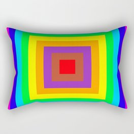 Multi coloured square background Rectangular Pillow