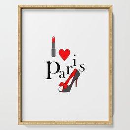 I Love Paris- Fashion Typography Serving Tray