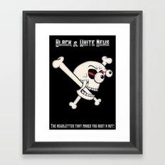 Black & White News Framed Art Print