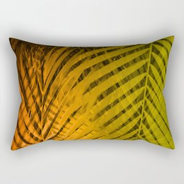 TROPICAL LEAVES GREEN MOCCA no2 Rectangular Pillow