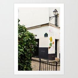 Alleyways of Paris Art Print