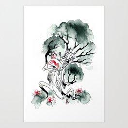 Not-So-Happy tree Art Print