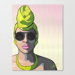 Chicks and Head Wraps 1 Canvas Print