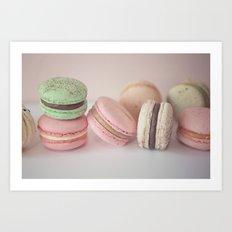 Blush Macarons Art Print