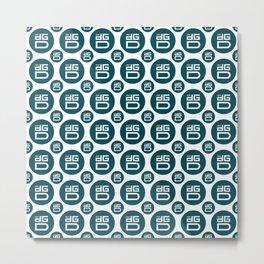 Digix Dao - Creative Crypto Pattern Art (Medium) Metal Print