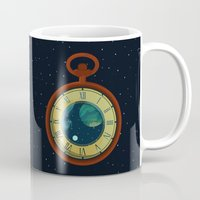 pocket Mugs featuring Cosmic Pocket Watch by badOdds
