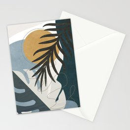 Abstract Tropical Art II Stationery Cards