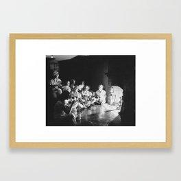 Sorority Sisters Around Fireplace Framed Art Print