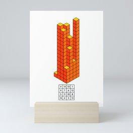 Magic square of Jupiter in 3D / Talisman Mini Art Print