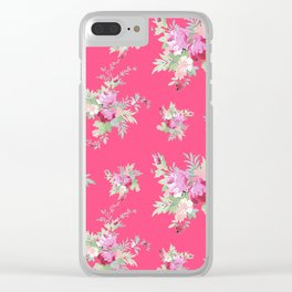 Rosanna on Pink Clear iPhone Case