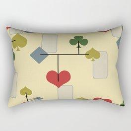 Atomic Era Card Suite Art Rectangular Pillow