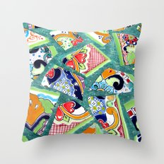 All the Colours of the Rainbow Throw Pillow
