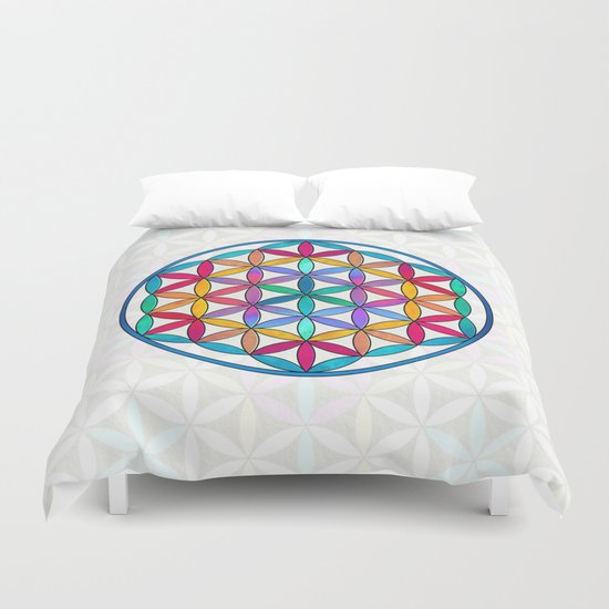 Flower of Life variation 3 Duvet Cover