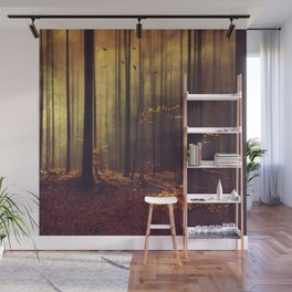 Light Hunters - Abstract orest in Sunlight Wall Mural