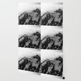 Shuksan Shine Black and White Wallpaper