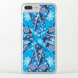Christmas background pattern Clear iPhone Case