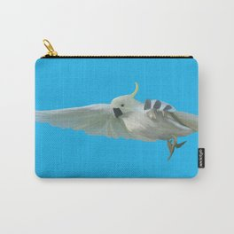 Cockatoo on Blue Carry-All Pouch