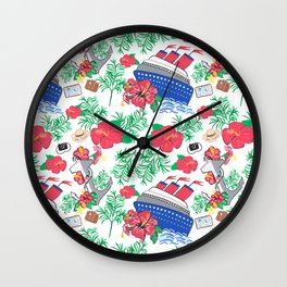 All Aboard the Cruise Ship Wall Clock