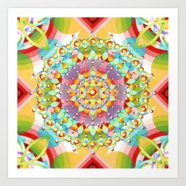 Bijoux Geometric Art Print