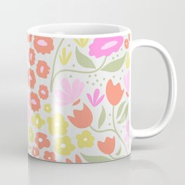Pink flowers field Coffee Mug