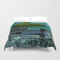 submarine Duvet Covers featuring Submarine by nicky2342