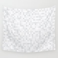 White Cubism Wall Tapestry