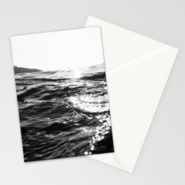 Fistral Sea Surface monochrome Stationery Cards