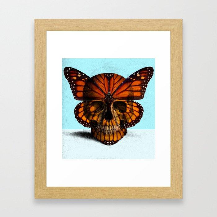 SKULL (MONARCH BUTTERFLY) Framed Art Print