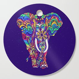 Not a circus elephant #violet by #Bizzartino Cutting Board