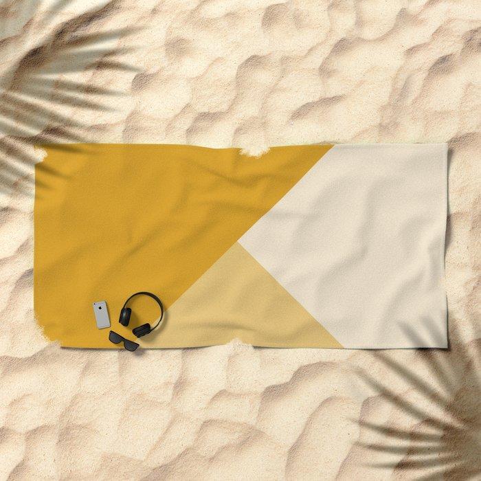 Mustard Tones Beach Towel