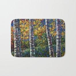 A Midsummer Dream Aspen Trees Palette Knife Painting  Bath Mat