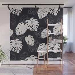Monstera Pattern Wall Mural