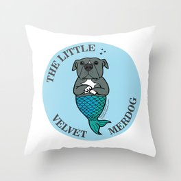The Little Velvet Merdog Throw Pillow
