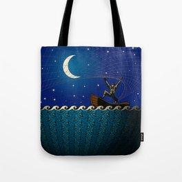 Night Net Fishin' Tote Bag