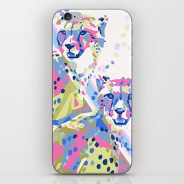 Bright and Colorful Cheetah Duo iPhone Skin