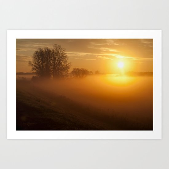 Morning's Glow Art Print