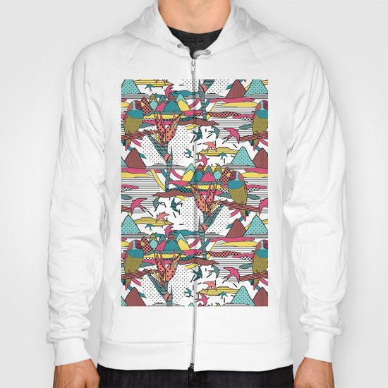 Pop art memphis 80's bird print Hoody