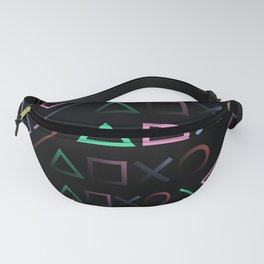 Playstation Buttons Maze Lines Fanny Pack