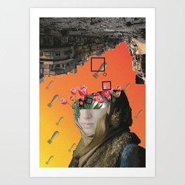 Flower of Syria Art Print
