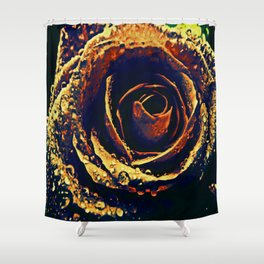 Rose with tears crossing Shower Curtain