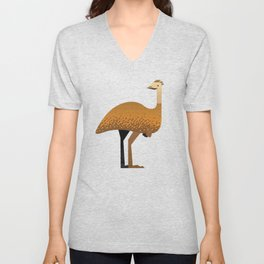 Whimsy Emu Unisex V-Neck