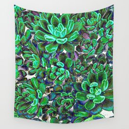 Floral tribute [green] Wall Tapestry