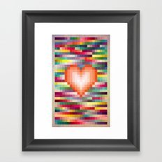 Mega ☐ Love_Grunge Framed Art Print