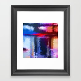 Splat Fabric Framed Art Print