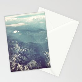 Aerial View of the French Alps Stationery Cards