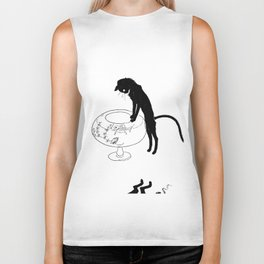"""Théophile Steinlen """"Cats: Pictures without Words (Cat and fishbowl)"""" (1) Biker Tank"""
